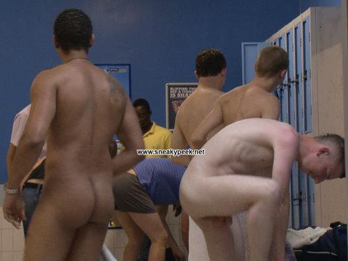 locker room footballers
