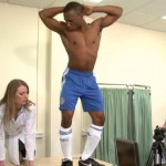 naked sportsmen medical examination