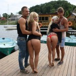 handsome guys with girlfriends bewfore sex party