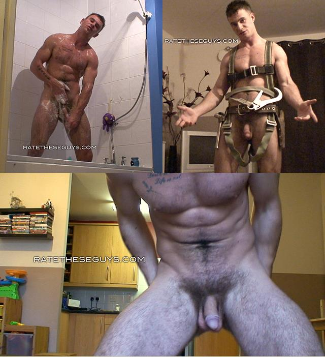 screenshots from self made video with naked straight muscle guy