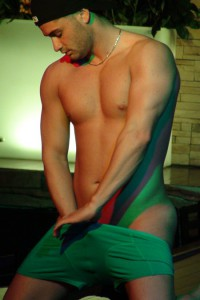 sexy muscle men strip dance from stockbar in montreal