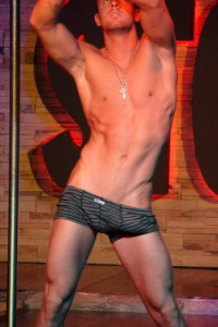 muscle male stripper from stockbar in montreal